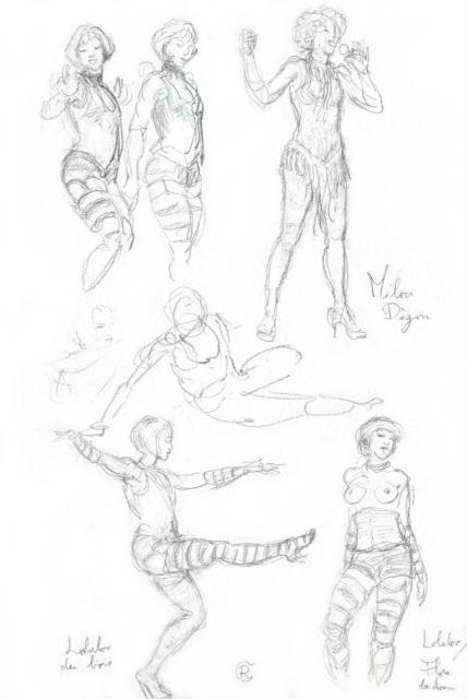 Le Cabaret des Filles de Joie (revue burlesque) - 17-04-10 - 2 - Lolaloo des Bois - Milou d'Egouts