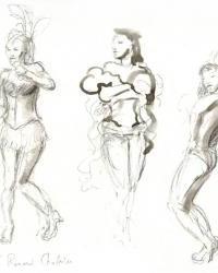 Le Cabaret des Filles de Joie (revue burlesque) - 18-04-10 - 1C - Pantera Sauvage - Princesse Jade de Belleville